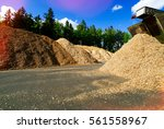 storage of wooden fuel  biomass ... | Shutterstock . vector #561558967