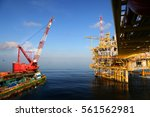 offshore construction platform... | Shutterstock . vector #561562981