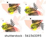 hand made abstract summer... | Shutterstock .eps vector #561563395