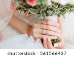 Wedding Bouquet Of Flowers In...