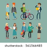 flat illustratuion set of... | Shutterstock .eps vector #561566485