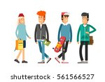 flat illustratuion set of... | Shutterstock .eps vector #561566527