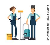 cleaning company vector concept ...   Shutterstock .eps vector #561566845