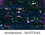 digital tv damage  television... | Shutterstock . vector #561575161