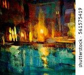 night landscape to venice ... | Shutterstock . vector #561575419