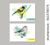 Set Of Vector Artistic Cards...