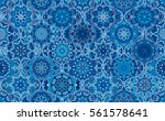 seamless pattern blue... | Shutterstock .eps vector #561578641
