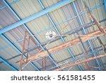lamp led in construction modern ... | Shutterstock . vector #561581455