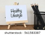 healthy lifestyle   business... | Shutterstock . vector #561583387