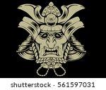 samurai mask | Shutterstock .eps vector #561597031