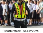 Traffic Police Standing On The...