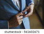 male buttons jacket  suit | Shutterstock . vector #561602671
