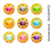 vector colorful shiny round...