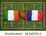 ireland vs. france flags on...   Shutterstock . vector #561605311