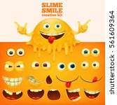 slime yellow smiley face... | Shutterstock .eps vector #561609364