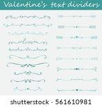 big set of valentine's hand... | Shutterstock .eps vector #561610981