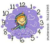 vector illustration of kid... | Shutterstock .eps vector #561615445
