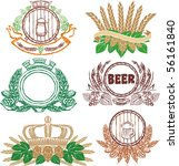 beer laurel sheafs and sign... | Shutterstock .eps vector #56161840