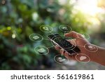 multichannel online banking... | Shutterstock . vector #561619861