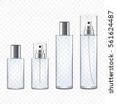 set of transparent perfume... | Shutterstock .eps vector #561624487