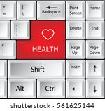 computer keyboard with health   ... | Shutterstock .eps vector #561625144