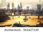 city of london multiple ... | Shutterstock . vector #561627139