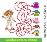 children's game  a puzzle to... | Shutterstock .eps vector #561632311