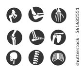 human bone and joint icon set | Shutterstock .eps vector #561632551