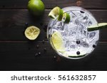 Glass Of Gin Tonic With...