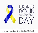 blue and yellow ribbon  world... | Shutterstock .eps vector #561633541