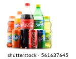 Small photo of POZNAN, POLAND - JAN 19, 2017: Flagship products of Coca Cola Company, American multinational beverage corporation, headquartered in Atlanta, Georgia, USA