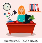 business woman  office worker....   Shutterstock .eps vector #561640735