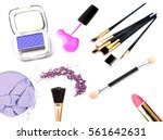 cosmetics and makeup. tools for ... | Shutterstock . vector #561642631