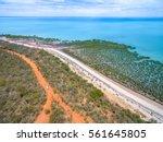 bird's eye view of broome beach ... | Shutterstock . vector #561645805