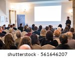 audience at the conference hall.... | Shutterstock . vector #561646207