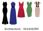 five dresses   party dress ... | Shutterstock .eps vector #561646585