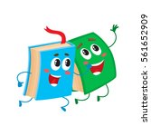 two funny book characters... | Shutterstock .eps vector #561652909