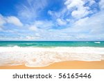 White Sand Beach With Perfect...