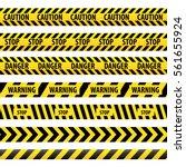 seamless tape caution  danger.... | Shutterstock .eps vector #561655924