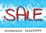 winter sale poster with sale... | Shutterstock .eps vector #561655999