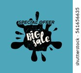 grunge color design big sale... | Shutterstock .eps vector #561656635