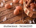 Freshly Picked Eggs In Wicker...