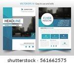 blue circle polygonal annual... | Shutterstock .eps vector #561662575