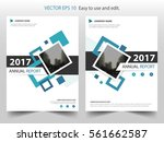 blue square annual report... | Shutterstock .eps vector #561662587