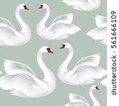 white birds  seamless pattern.... | Shutterstock .eps vector #561666109