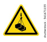 warning sign for crane  vector  ... | Shutterstock .eps vector #561671155