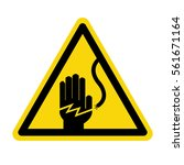 electrical hazard warning sign  ... | Shutterstock .eps vector #561671164