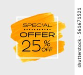 special offer sale 25  off sign ... | Shutterstock .eps vector #561671521