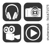 video audio and photo icons... | Shutterstock .eps vector #561671575