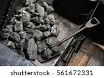 shovel and coal in historic... | Shutterstock . vector #561672331